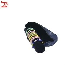 Fashion Jewelry Display Storage Case PU Zipper Bag  Velvet Bar Bracelet Holder Bangle Watch Organizer Travel Roll