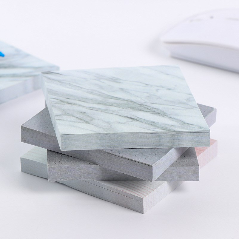 1PC Creative Marble Color Self Adhesive Memo Pad New Style Sticky Notes Bookmark School Office Stationery Supply image