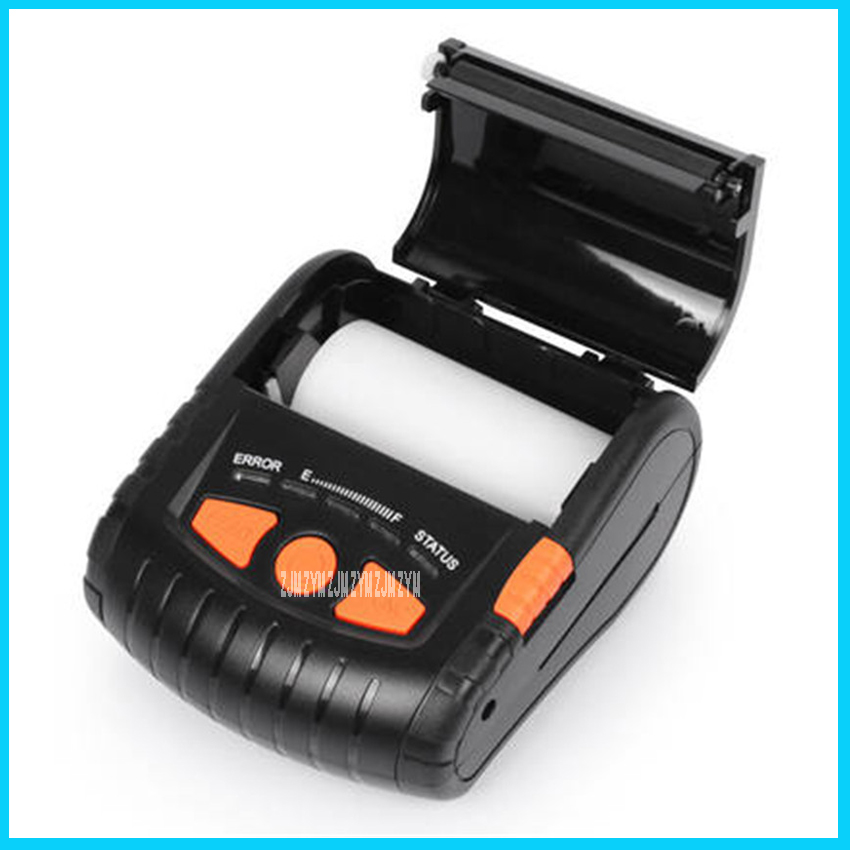 PT-380 110-220V Thermal printer portable self-adhesive label  clothing tag supermarket price  take-away Bluetooth printer 60mm/s supermarket direct thermal printing label code printer