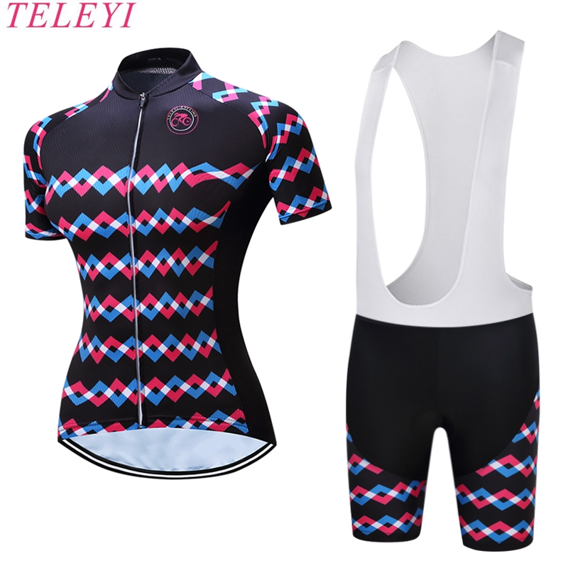 2017 NEW TELEYI  Ropa Ciclismo Cycling Short Jersey 5 Gel Pad BIB Pants Bike Bicycle Wear Clothes Quick Dry Cycling Clothing OH9 teleyi bike team racing cycling jersey spring long sleeve cycling clothing ropa ciclismo breathable bicycle clothes bike jersey