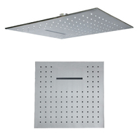 20 Inch Rainfall Shower Head Waterfall Bathroom Ceiling Mounted 304 Stainless Steel Big Shower Rain Brushed Finished