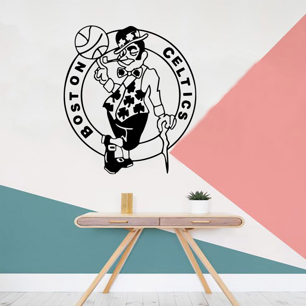 Diy boston celtlcs Vinyl Wallpaper Roll Furniture Decorative For Baby 39 s Rooms Pvc Wall Decals in Wall Stickers from Home amp Garden