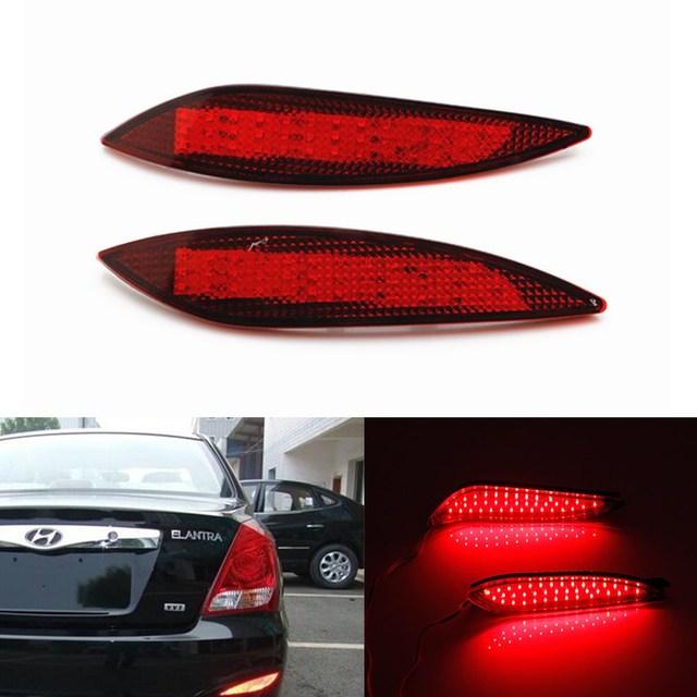 Auto Lâmpada LED Rear Bumper Refletores de Luz Car Styling Estacionamento Aviso luzes Traseiras de Frenagem fit para 2012 Hyundai Elantra