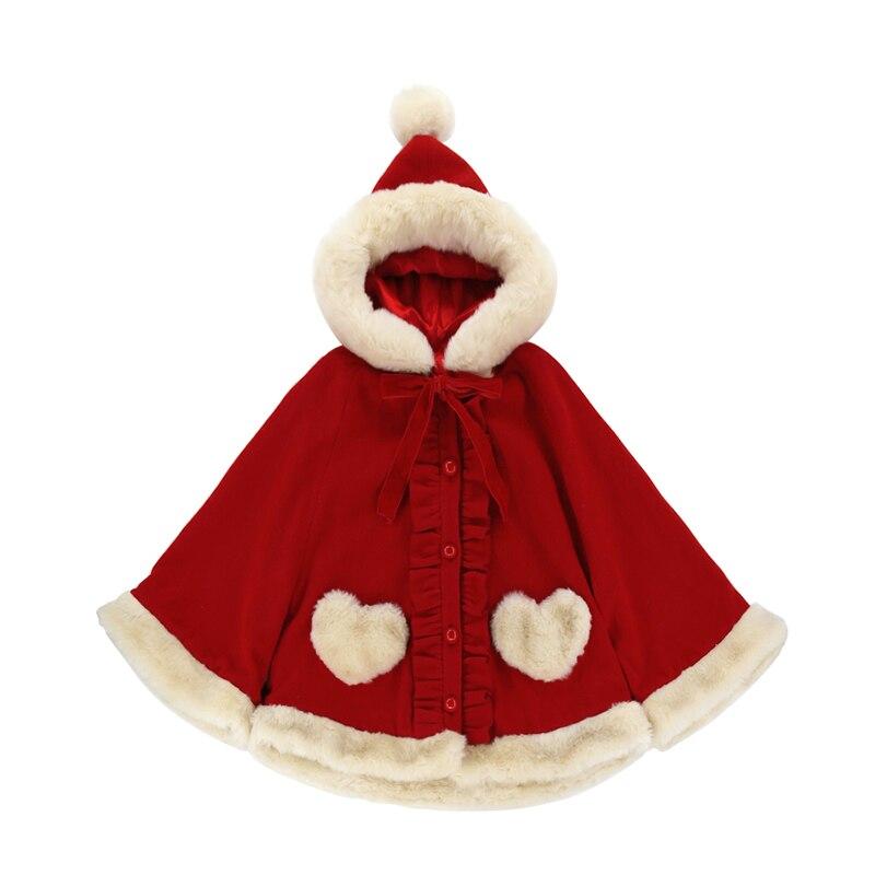 Schwester Prinzessin Ohr Lolita Sweet Kleid Wolle Katze Datum Bobon21 Hut Plüsch rot C1711 Süßen Weichen Japanischen Liebevolle Elfenbein Mantel r0r5wqxP