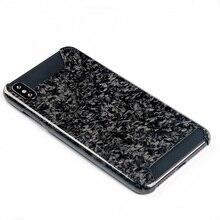 Iphone xs最大ケースカバー高級スリムリアル鍛造炭素繊維の鎧保護電話ケースiphone x xs xr裏表紙