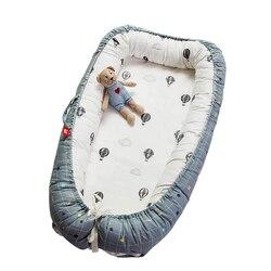 Dwustronne dostępne gniazdo dla dziecka przenośne łóżeczko dziecięce łóżko turystyczne niemowlę maluch bawełniane kołyska dla nowo narodzonego dziecka