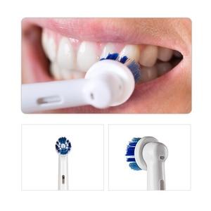 Image 2 - Oral b sonic escova de dentes elétrica db4010 bateria oprated rotativa escova de dentes elétrica precisão limpa cabeça da escova adulto