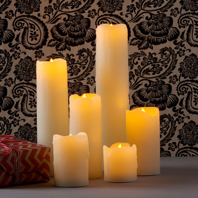 Flameless Electronic Wedding Candles Decorative,Led wax Candle Light,Romantic marriage propose,Valentine's day Decor. candle