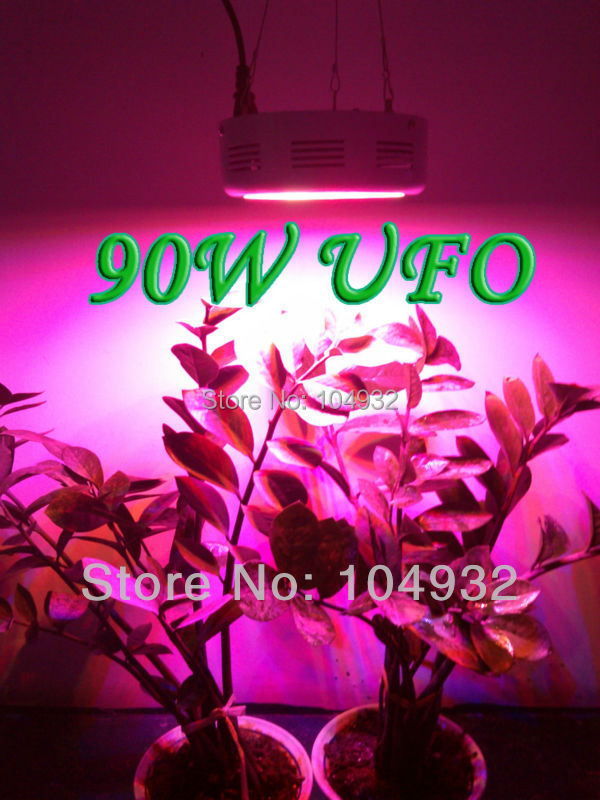 QUAD-BAND 90W LED Grow Light  Hydroponic Plant Grow Light  Indoor Hydroponic System Plant UFO  30*3W led light crystal knob glass knobs dresser drawer pulls handles lavender purple cabinet knob pull handle furniture hardware bling