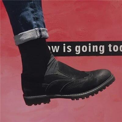 Chaussures Cuir Mosaïque Japonais Irrégulière En Hommes Style De Aider Black Sauvage Pour Bullock Trou Lumière Pédale Mode Bas Décontracté Noir q34AjLc5R