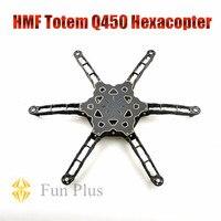HMF Totem Q450 Alien Across Carbon Fiber RC Hexacopter Frame Rack Ultralight for DIY FPV as F450