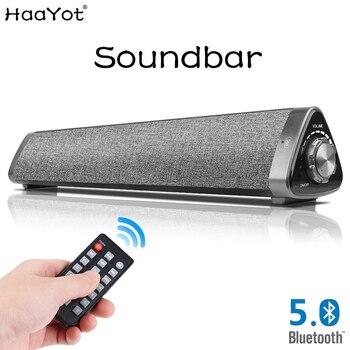 HAAYOT TV Sound Bar Wireless Mini Bluetooth 5.0 Speaker Home Surround SoundBar for PC Theater Laptop Computer Speakers