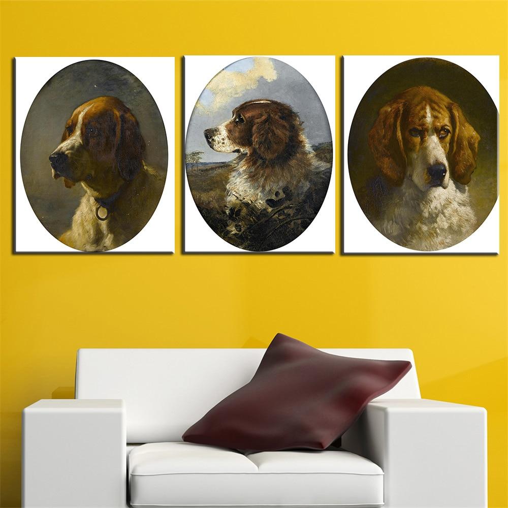 Lienzo pintura no Marcos fotos moderno animal perro de dibujos ...
