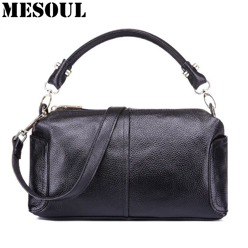 Genuine Leather Shoulder Bags Women Messenger Bags 2017 New Fashion Woman Handbags High Quality Designer Ladies Tote Hand Bag women genuine leather handbags ladies personality new head layer cowhide shoulder messenger bags hand rub color female handbags
