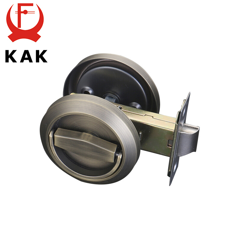 KAK Hidden Door Locks Stainless Steel Handle Recessed Cabinet Invisible Pull Mechanical Outdoor Lock For Fire Proof Hardware
