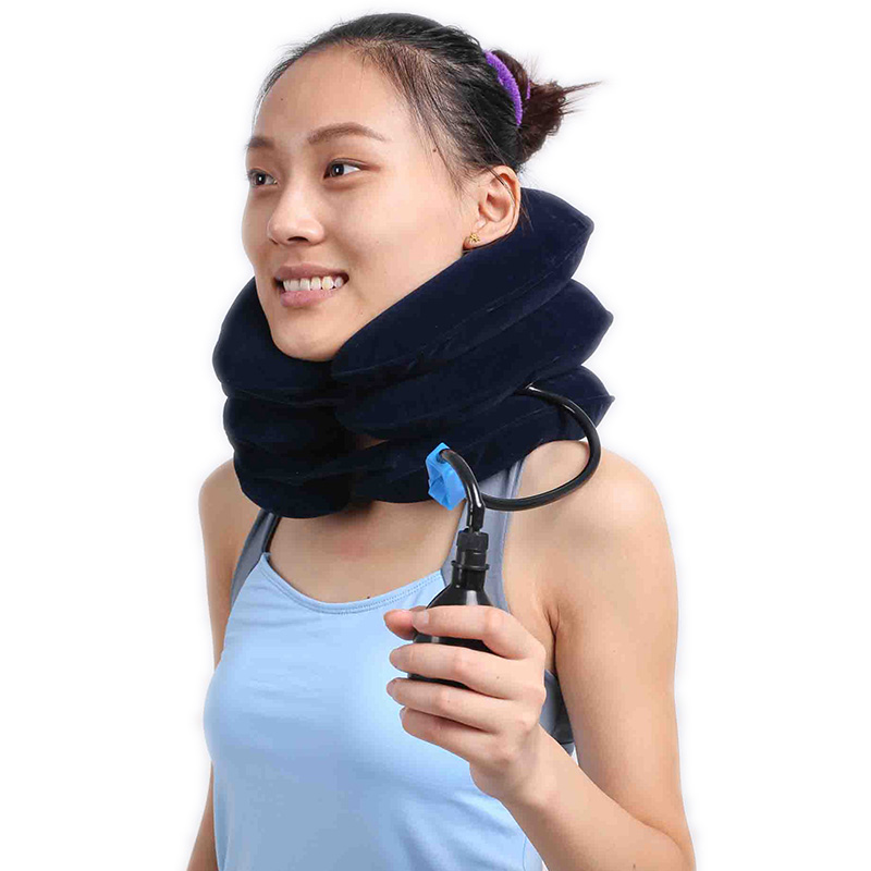100% New Neck Traction Device Massager Rubber Cervical Portable Air Collar for traction and treatment of cervical vertebrae schubert neck traction device physical therapy for neck cervical traction health care apparatus