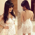 Sexy Pearls Cocktail Dress Appliques Back Hollow Close-Fitting Party Gowns Mini Prom Club Robe De Soiree Pub Dresses
