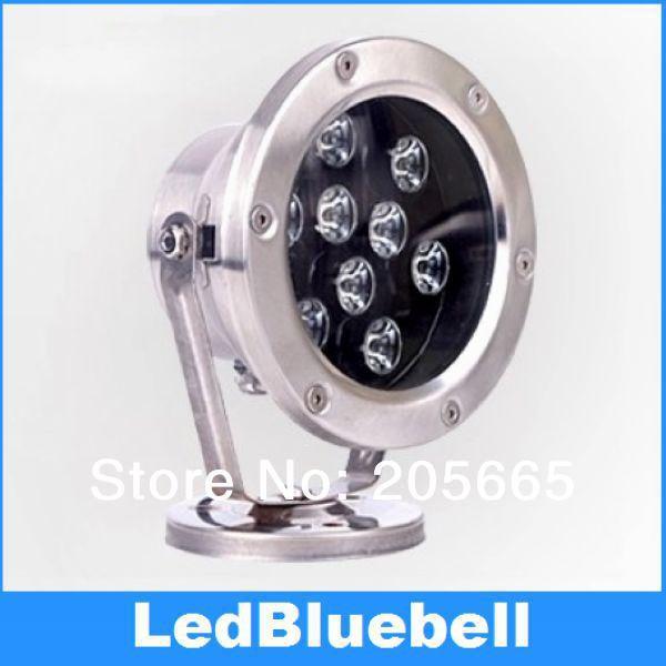ФОТО 12V 9W LED Underwater Light  Outdoor Landscape Lamp fountain light  Waterproof IP68 underground illuminazione