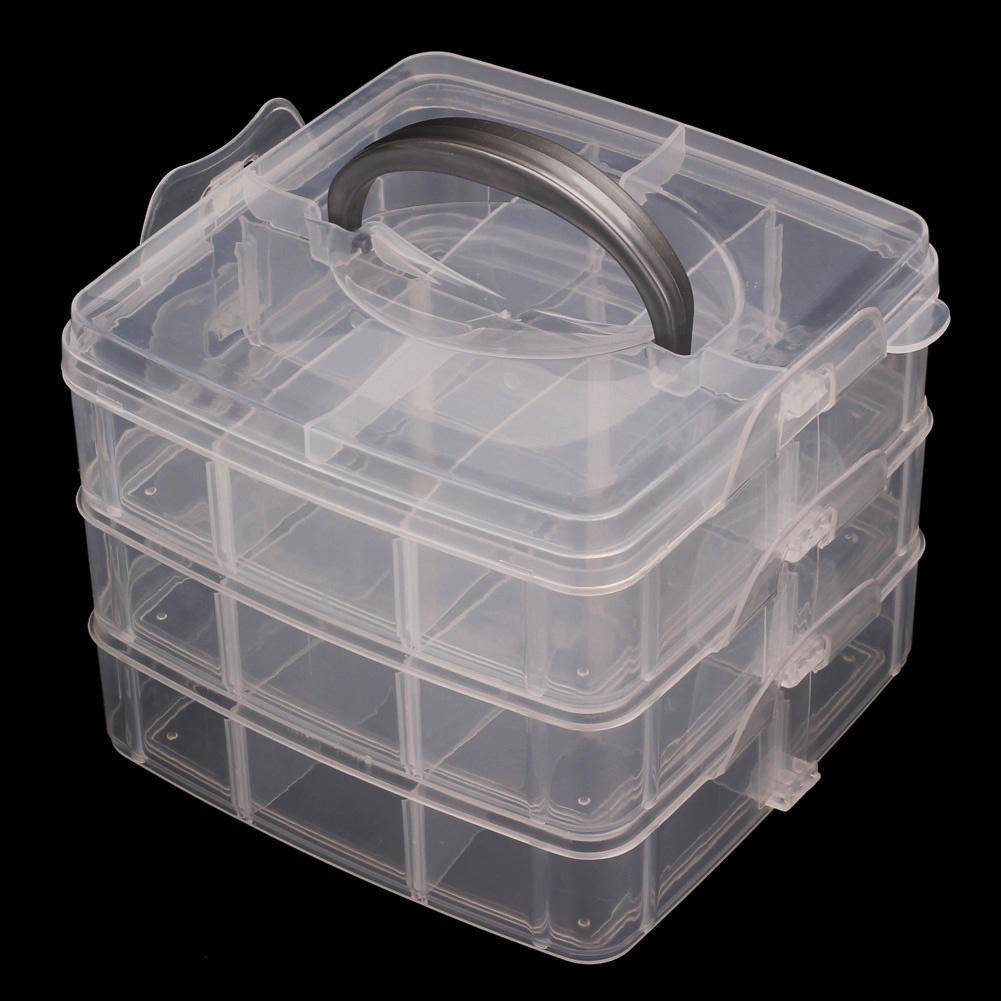 Plastic 18 Slots Adjustable Jewelry Organizer Beads Storage Box Case Tiny Stuff Container-in Storage Boxes u0026 Bins from Home u0026 Garden on Aliexpress.com ... & Plastic 18 Slots Adjustable Jewelry Organizer Beads Storage Box Case ...