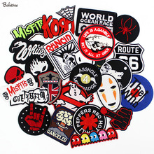 Metal Band Musik Rock Setrika Patch Bordir Badge Punk Pakaian Hippie Stiker  untuk Pakaian Jaket Jeans Bordiran 80d5f4bf9f