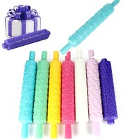 Fondant bánh sugarcraft embossed trang trí khuôn đặt 7 cái/bộ cụ gum paste nhạc rolling pin hoa phong cách diy công cụ món quà