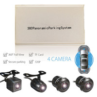 KROAKรถ360องศาพาโนรามาCamดูนกHD 4กล้องที่จอดรถบันทึกกล้องDVR USBระบบบัตรTF
