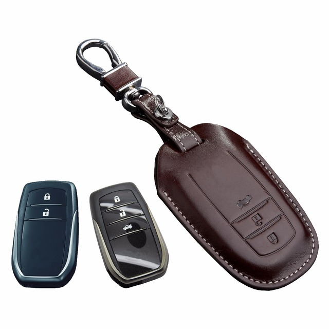 Leather Key Fob Cover Case For 2016 Toyota Kijang Innova