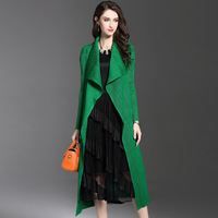 Changpleat 2018 Autumn Women's Trench Fashion Miyak Pleated Long Sleeve Loose Solid Female Long Cardigan coat Outerwear Tide