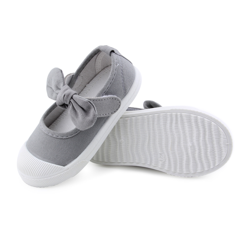 Baby Girl Shoes Canvas Casual Kids Shoes With Bowtie Bow-knot Solid Candy Color Girls Sneakers Children Soft Shoes 21-30 15
