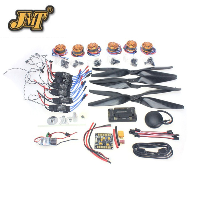 JMT 680-700 6-Aix RC Drone Necessity kits 700KV Motor+30A ESC+1555 Props + APM2.8 + GPS for Quadcopter Hexacopter Multi-Rotor f15843 j k l 4 aix helicopter accessories kit with apm 2 8 gps for 450 4 aix rc drone quadcopter hexacopter multi rotor aircraft