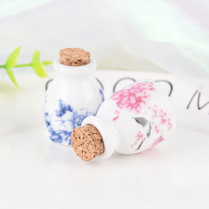 Image 3 - DIY Nail Art Tools Peony/Magpie Mini Ceramic Glass Dappen Dish Bowl Cup With Wood Lid Acrylic Liquid Glitter Powder Bottle