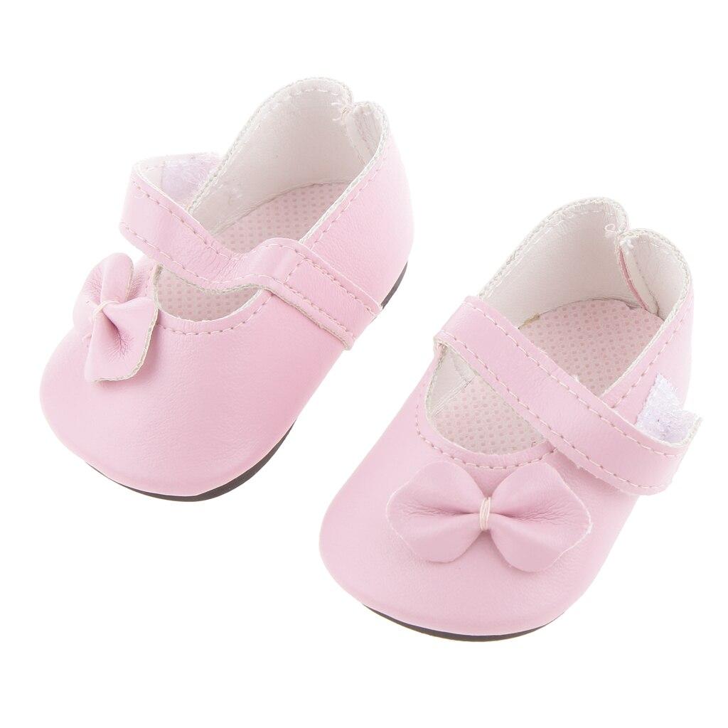 Magideal Scarpe Da Ginnastica Bowknot Flats Sneakers Per Bambole Americane 18