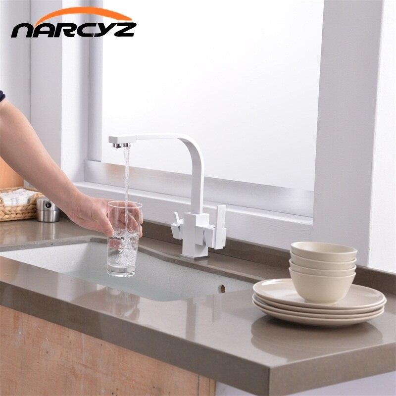 Multifunktionale Schwarz Kuchenarmatur 3 Way Trinkwasser Krane Hot