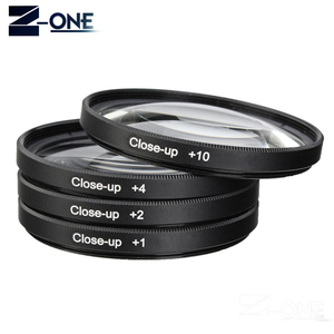 Image 5 - 49 52 55 58 62 67 72 77 MM Macro Close up Filter +1+2+4+10 Set+ UV CPL FLD +ND2 4 8 Camera Lens Filter+Hood for Canon Nikon Sony