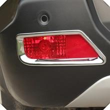 2009-2015 для Peugeot 3008 ABS Chrome сзади противотуманных фар крышка обрезать 2 шт./компл. Тюнинг автомобилей