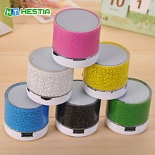 HESTIA A9 LED Portable Mini Bluetooth Speakers Wireless HandsFree Speaker With TF USB FM Mic Blutooth Music For Android & iPhone