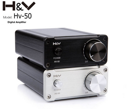 Hv-50 50W*2 TDA7492 Hifi Audio Digital Power Amplifier 24V Mini Home amp Class d amplifier Silver and Black стоимость