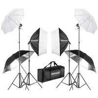 Neewer 800 Вт фотография Софтбокс и зонтичное освещение комплект 24 дюйма софтбокс белый зонтик и лампа 88 дюймов световая подставка