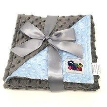 Флисовое детское одеяло 80*75 см, Пеленальное Одеяло для новорожденных, мягкое детское постельное белье, одеяло для кроватки, Манта, Bebes, Одеяло Минки, 3 цвета