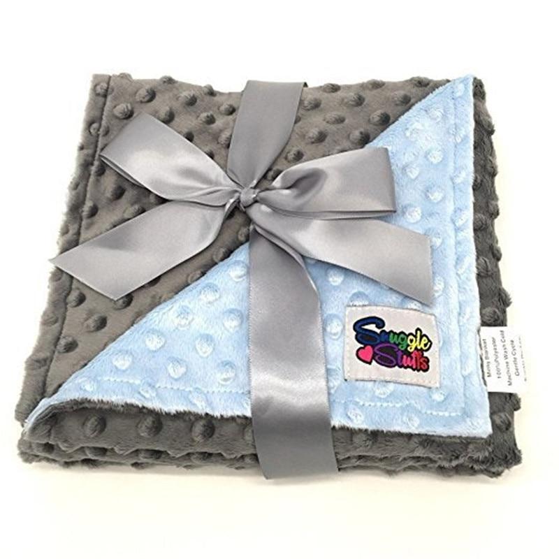 80*75cm Fleece Baby Decke Neugeborene Baby Swaddle Wrap Weich Baby Bettwäsche krippe Empfang Decke Manta Bebes minky decke 3 farbe