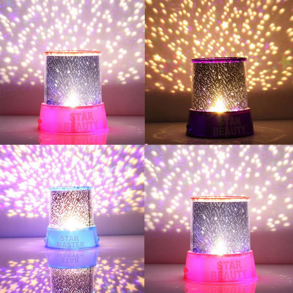 2018 Hot Colorful Sky Star Master With Moon Novel Festival Gifts Projector Night Light Romatic Cosmos LED Starry Light Lamp