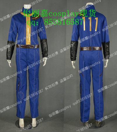 Vault 111 PC Game Suit Cosplay Costume E001