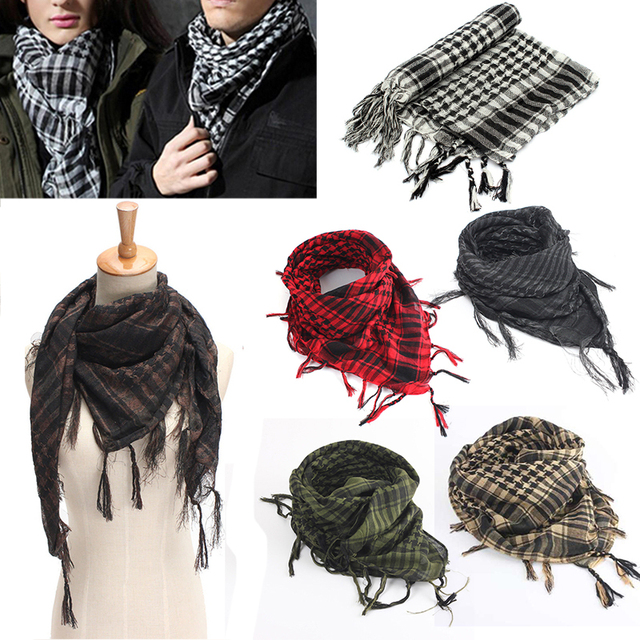 Mayitr 100x100cm Outdoor Hiking Scarves Military Arab Tactical Desert Scarf  Army Shemagh With Tassel For Men 4e26d7629