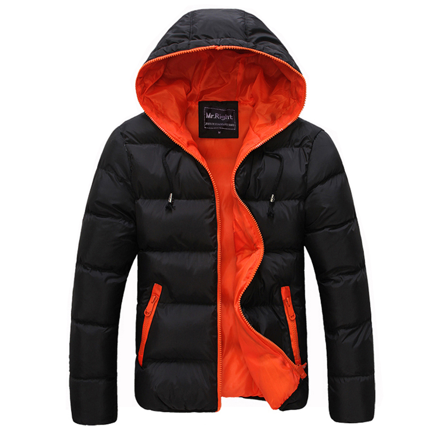 Winter Men Jacket 2018 New Brand High Quality Candy Color Warmth Mens Jackets And Coats Thick