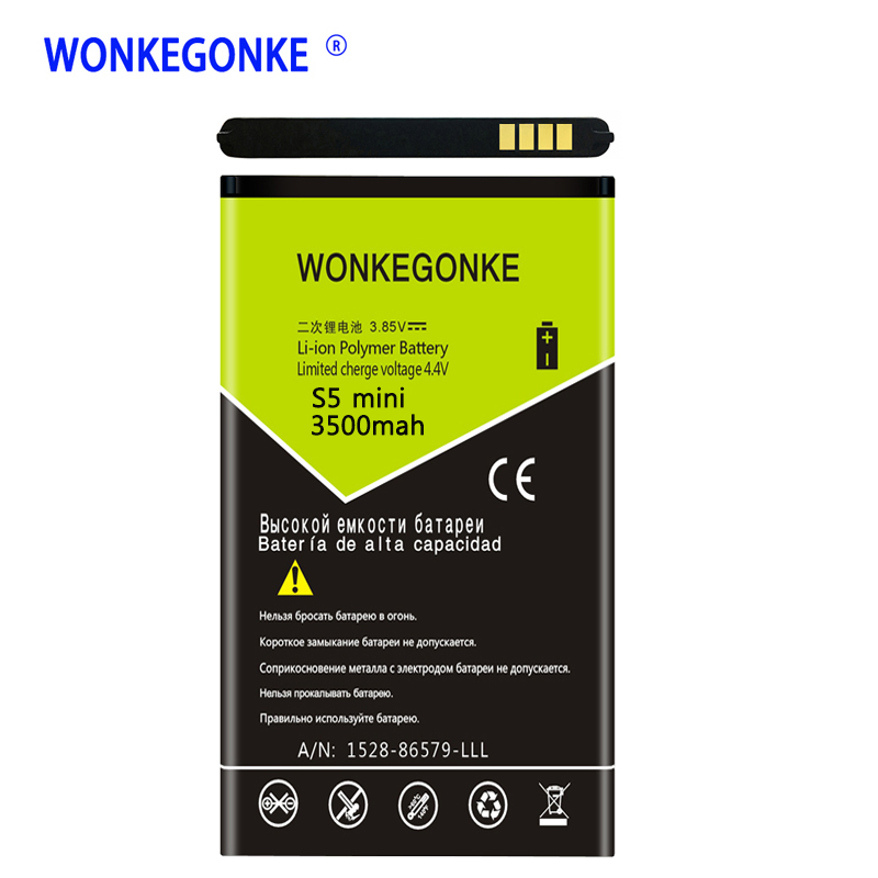 WONKEGONKE EB-BG800BBE Battery Replacement For Samsung GALAXY S5 mini battery <font><b>G870</b></font> SM-G800F SM-G800H image