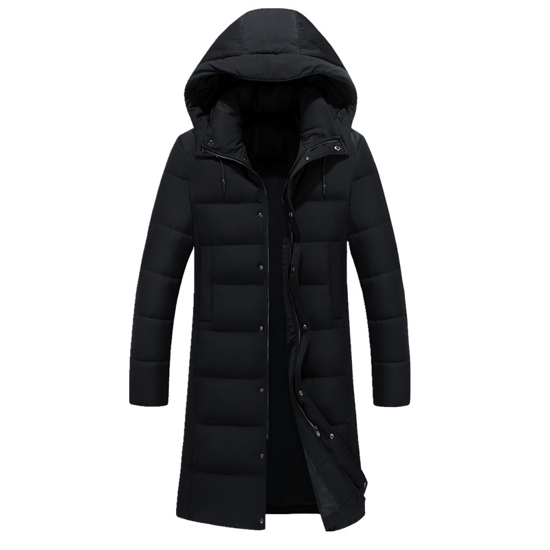 free shipping 2017 New Clothing Jackets Business Long Thick Winter Coat Men Solid Parka Fashion Overcoat Outerwear Hooded Black zeeshant new clothing jackets business long thick winter coat men solid parka fashion overcoat outerwear in men s parkas xxxl