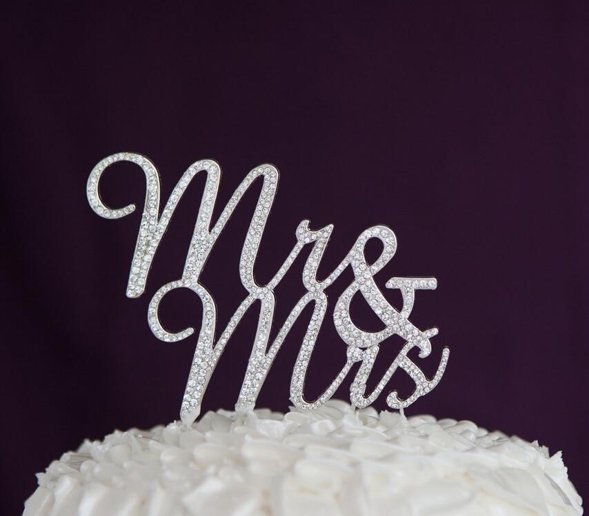 Mr/&Mr Rhinestone Cake Topper