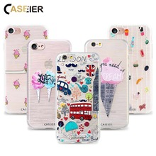 CASEIER Phone Case For iPhone 6s 6 Plus Soft TPU Ultra-thin Hollow Pattern Cover 5s 5 SE Relief Silicone phone Shell