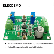 Current to voltage module signal conversion conditioning IU conversion 0/4-20mA to 0-5V transmitter signal isolation transmitter current voltage transmitter multiple input multiple output 4 20ma 0 5v 0 10v