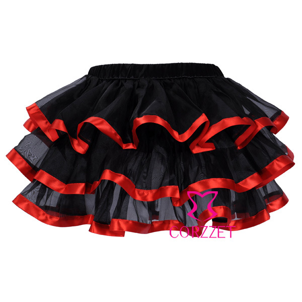 Factory Directly Sexy Micro Mini Black Organza Corset Skirt Adult Pettiskirt Women Burlesque Punk Tutu Skirts With Ribbon Trims In Bustiers Corsets From